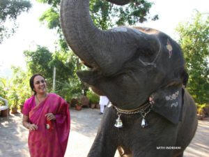 With our playful Indrani