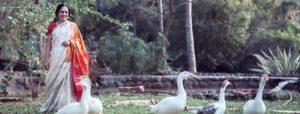 Bhanumathi in Radha Kunj gardens