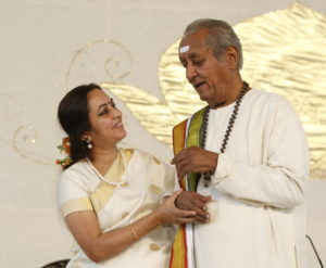 Bhanumathi with her father Pitaji