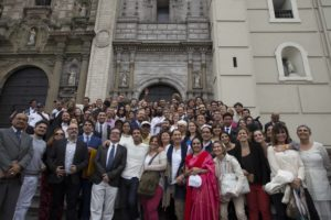 In Lima, Perú, with Art of Living volunteers